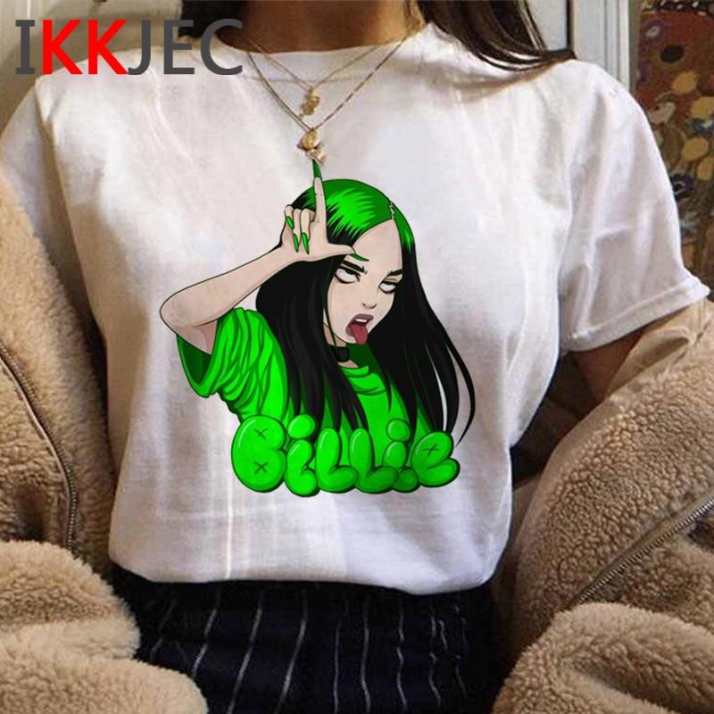 Billie Eilish Funny Cartoon T Shirt Men/women Unisex Hip Hop Bad Guy T-shirt Aesthetic Graphic Tshirt Streetwear Top Tees Male