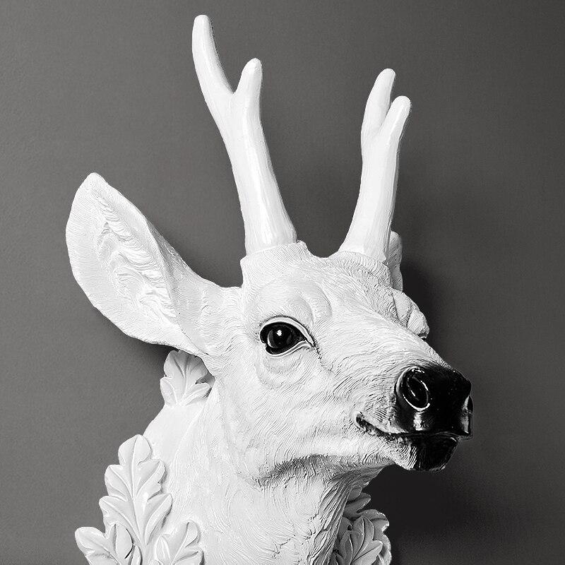 Домашний декор статуи аксессуары скандинавский стиль голова оленя скульптура гостиная настенный Декор статуя ремесло - 3