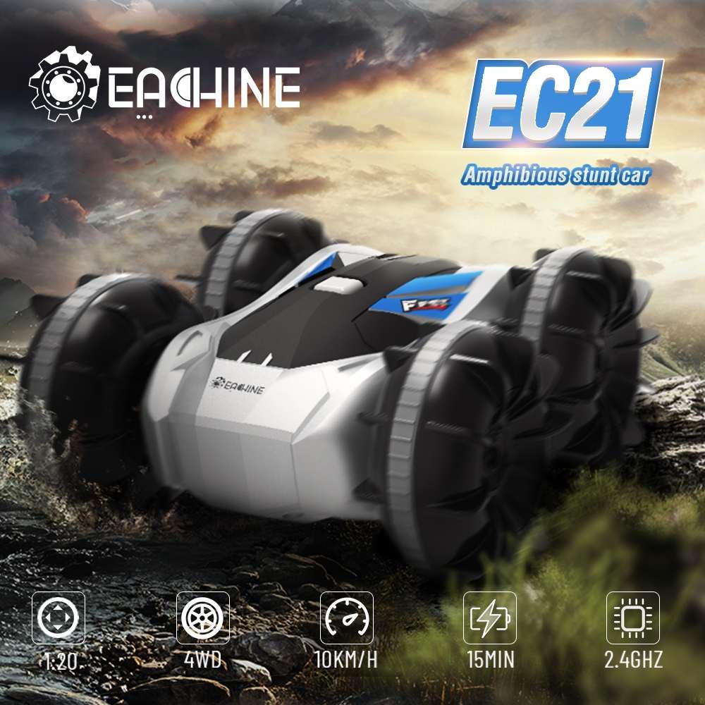 Eachine EC21 2 в 1 амфибия RC дрейф автомобиль с режимом RC лодки 1/20 4WD 2,4G пульт дистанционного управления Autos игрушки для взрослых и мальчиков детей