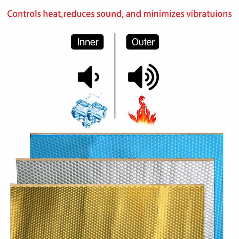 Insonorisation de voiture tapis isolation phonique amortissement pour capot moteur pare-feu autocollant thermique