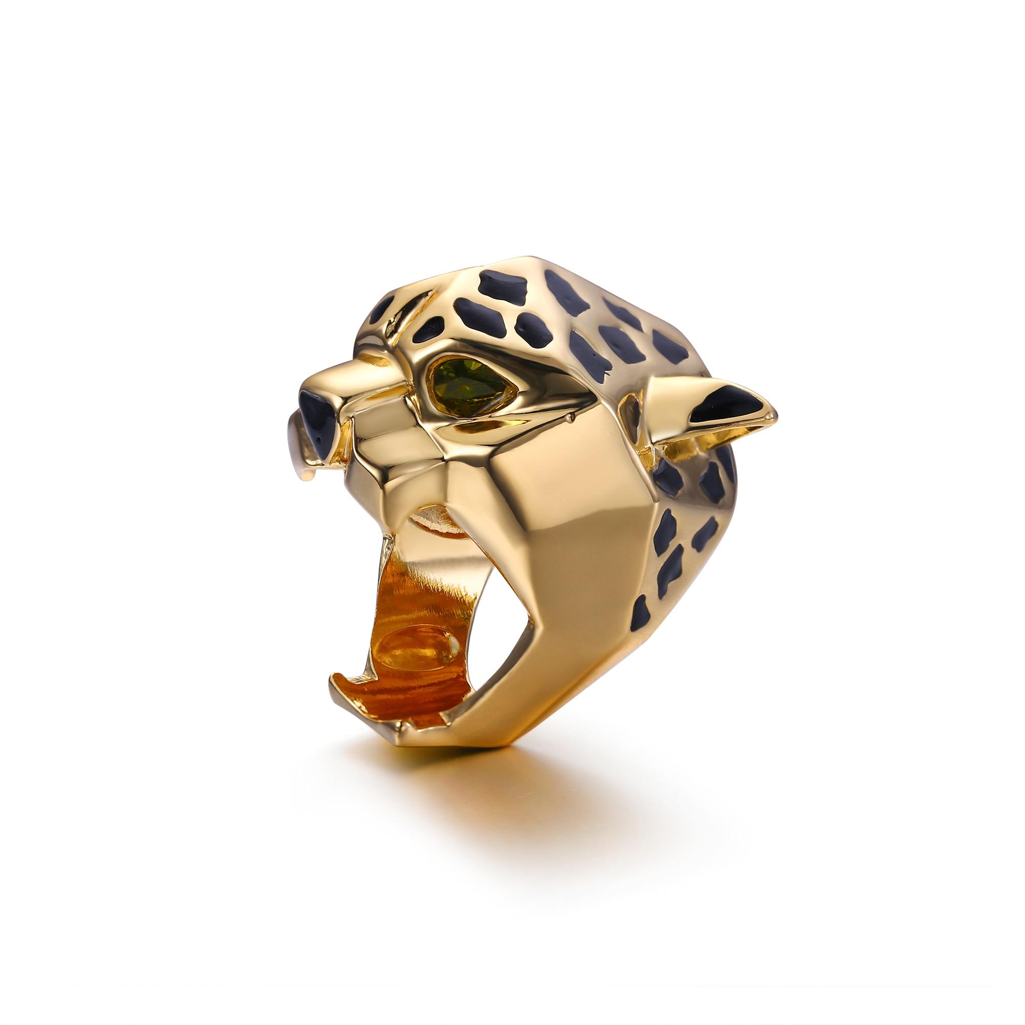 Tuliper Leopard Ring Panther Bague Cocktail кольцо Animal - Bijuterii de moda - Fotografie 5
