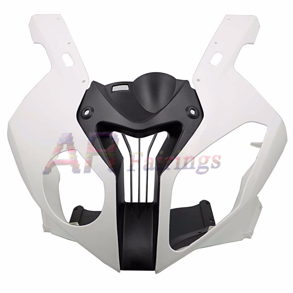 Motorcycle Head Unpainted Fairing Injection Front Upper Nose Cowl Air Intake For BMW S1000RR S 1000 RR 2010 2011 2012 2013 2014 image