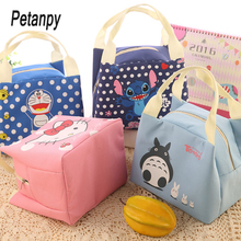 Doraemon Waterproof Lunch Bag for Women kids Men Cooler Box Tote canvas lunch bag Insulation Package Portable