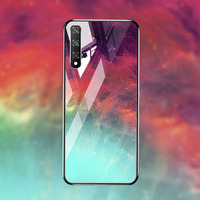 silicone case Tempered Glass Case For Huawei honor 20 8X mate 20 10 lite Cases Space Silicone Covers for Huawei mate 20 Pro 20x back cover (4)
