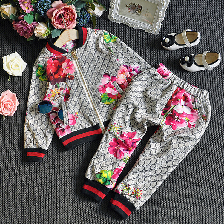 2019 Spring And Autumn New Style Childrenswear Europe And America Version Children Two-Piece Set