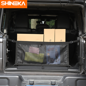 Image 2 - Car Covers For Jeep Wrangler JL 2019 2020 Car Multifunction Trunk Cargo Storage Net Cover Accessories For Jeep Wrangler JL 2018+