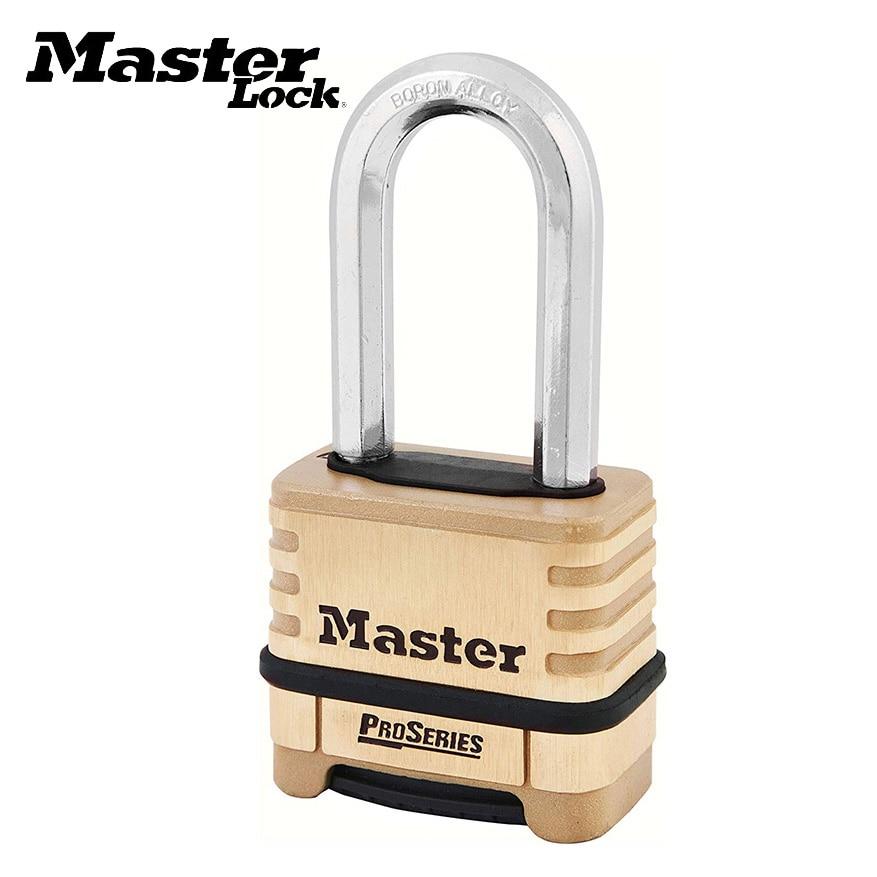 Master Lock 1175DLH Combination Padlock Outdoor Corrosion Resistance Brass Resettable Password Lock 4-digit Combination Padlocks