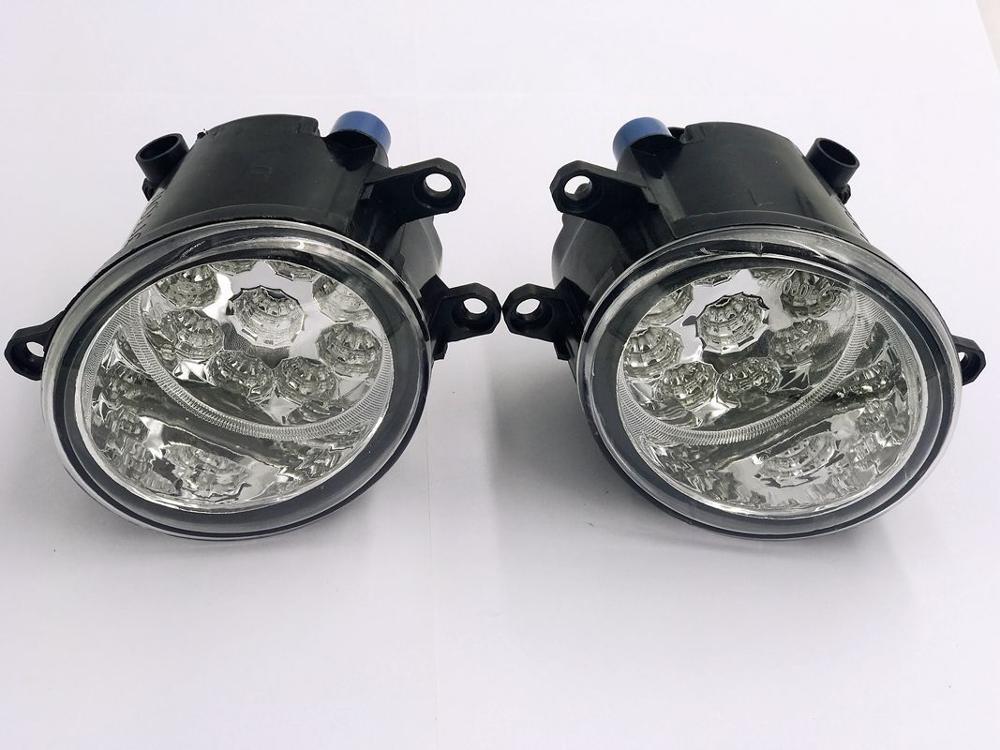 2PCS Super Bright LED Fog Head Lamp For Toyota Land Cruiser Prado J150 2009-2012 Car-Styling
