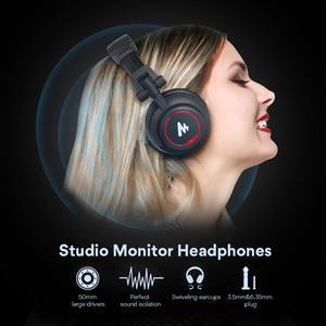 Image 4 - Professionale Studio Monitor Cuffie Over Ear con 50 millimetri Driver MAONO AU MH501