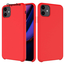 Oppselve Liquid Silicone Case For iPhone 11 2019 Luxury Coque Cover Pro Max 11Pro Phone Back Fundas Capinhas