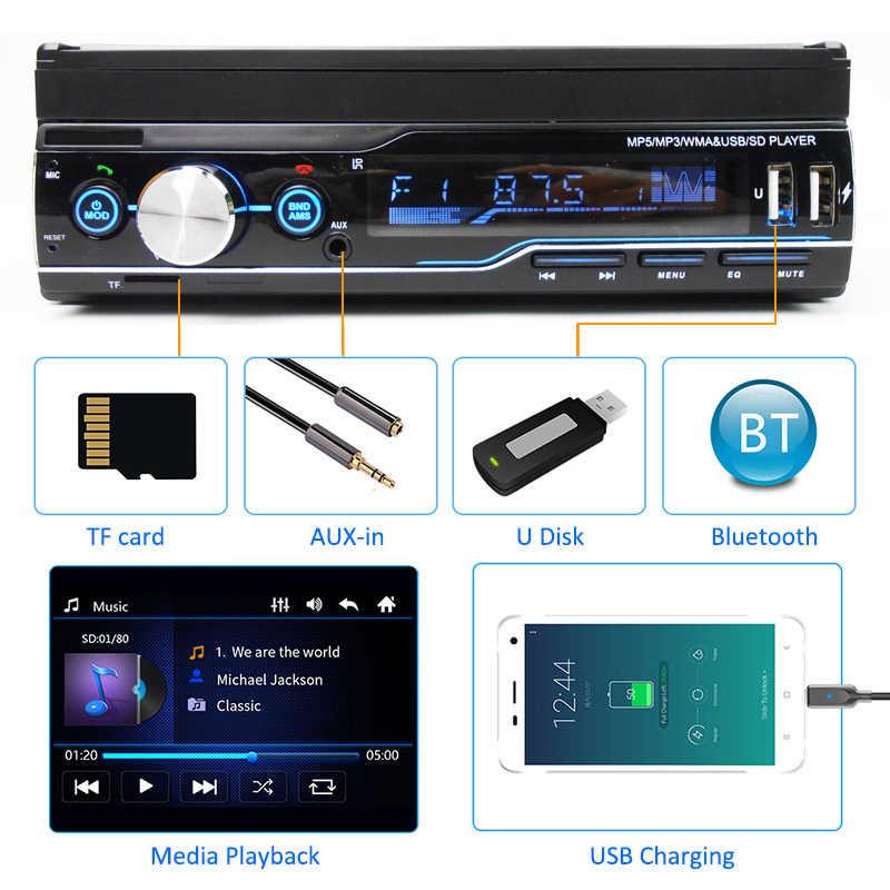 "SWM 9601 7/"" auto lettore mp5 DVR TELECAMERA RDS AM FM Radio USB BT //// TF//AUX head unit"