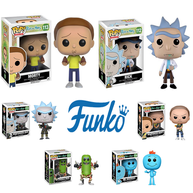 Funko POP Rick And Morty Cucumber Gun Laser Cannon 10cm Action Figure Toys Vinyl Dolls For Collection  Anime Figure