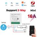 Zigbee Tuya Smart модуль автоматического включения света без тормоза/с нейтральным 100-240V 2 Way Беспроводной светильник реле совместимый с Alexa Google Home