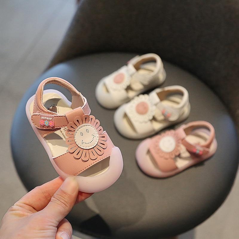Summer Baby Girls Sandals Infant Toddler Sandal Soft Bottom Non-slip Kids Anti-collision Sandals Flowers Children Casual Shoes