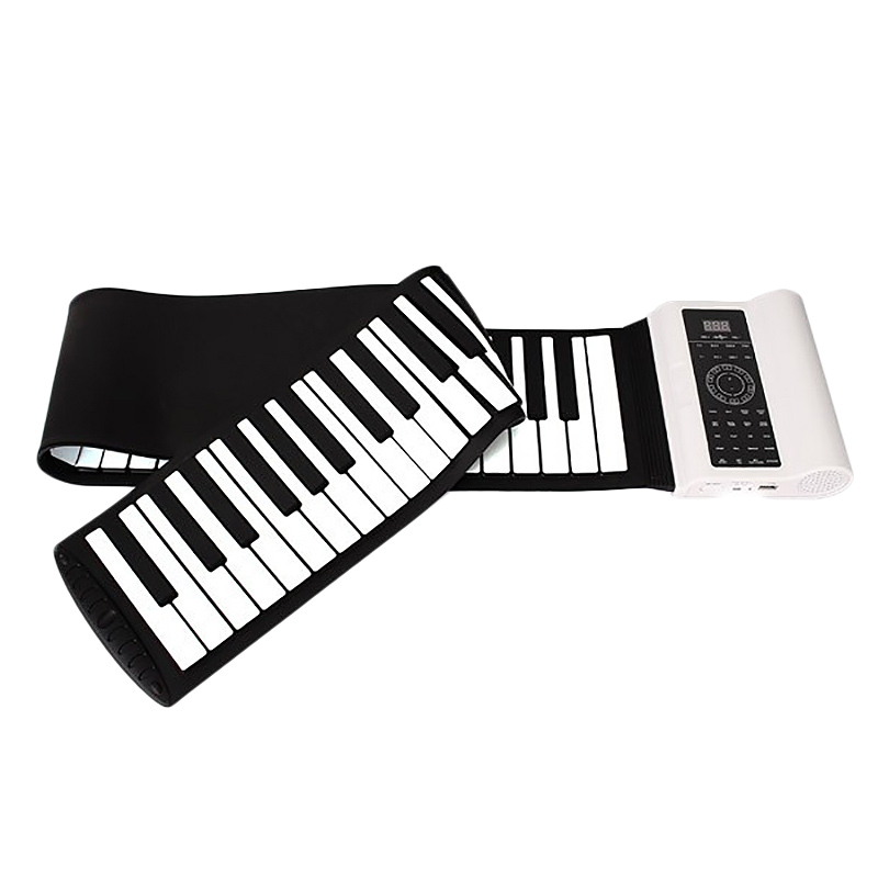 Professional 88 Key Midi Electronic Keyboard Roll Up Piano Silicone Flexible With Foot Pedal,Us Plug