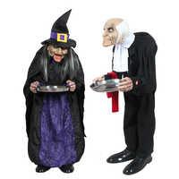 Männer/frauen Haushälterin Horror Halloween Dekorationen Hause Tür Bar Club Ornamente Scary Halloween Geist Horror Halloween Requisiten
