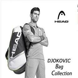 Djokovic Same Model Head Tennis Bag Tennis Racket Bag Padel Tennis Backpack Racquet Bag For 9 Racquets Tenis Raquete Tenis Bolsa