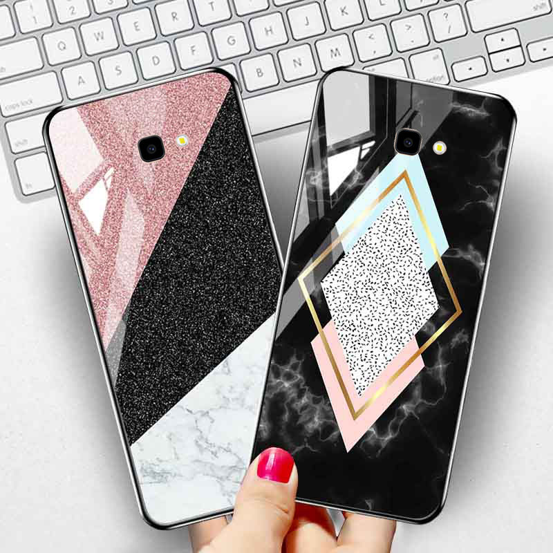 For <font><b>Samsung</b></font> J4 J6 Plus 2018 <font><b>Case</b></font> Marble Tempered <font><b>Glass</b></font> Back Cover For <font><b>Samsung</b></font> Galaxy A51 A50s A20s A10s <font><b>M30s</b></font> A71 A81 A91 Covers image