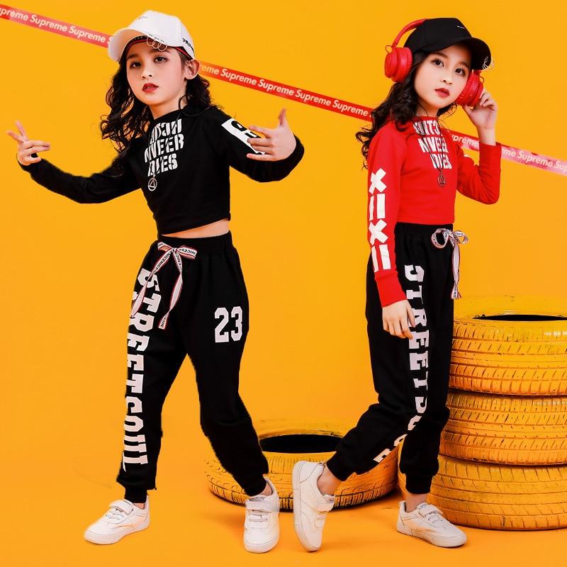 Children's Hip-hop Dance Ensemble Girls Jazz Dance Costumes Girls Hiphop Performance Clothing