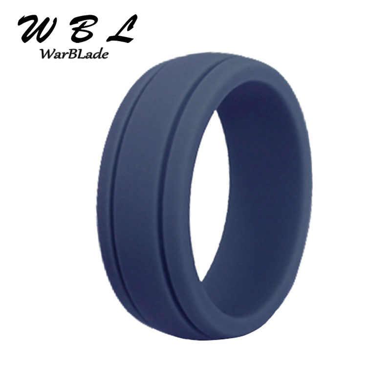 Size8-12 Food Grade FDA Silikon 8 Mm Hypoallergenic CrossFit Fleksibel Karet Jari Cincin untuk Wanita Pria Cincin Pernikahan Band