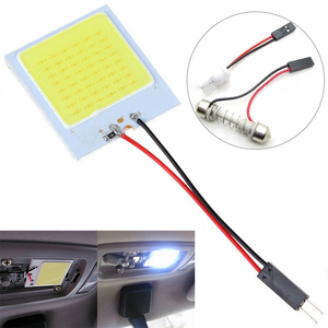 Car Accessories 12 36 48 SMD 2835 LED Auto Dome Panel Light Car Interior Reading Lamp Roof Bulb With T10 W5W BA9S C5W Festoon 3