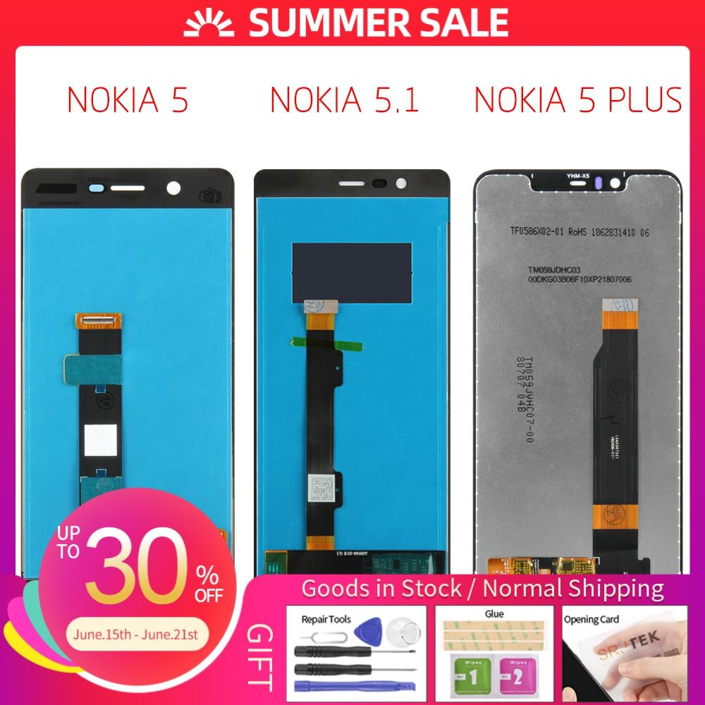 For Nokia 5.1 LCD Display Touch Screen Digitizer TA 1024 1027 1044 1053 1008 1030 1109 For Nokia 5 5.1 Plus LCD X5 Screen