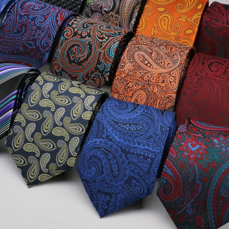 8CM Mens Ties Floral Paisley Jacquard Formal Dress gravata corbatas Wedding Business Necktie Neck ties For Men Neckwear Groom
