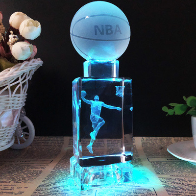 Crystal Basketball Souvenirs Decoration James Kobe Friends Classmates Figurine Model DIY BOY'S Day Gift 520