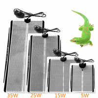 5-35W Terrarium Reptiles Heat Mat Climbing Pet Heating Warm Pads Adjustable Temperature Controller Mats Reptiles Supplies