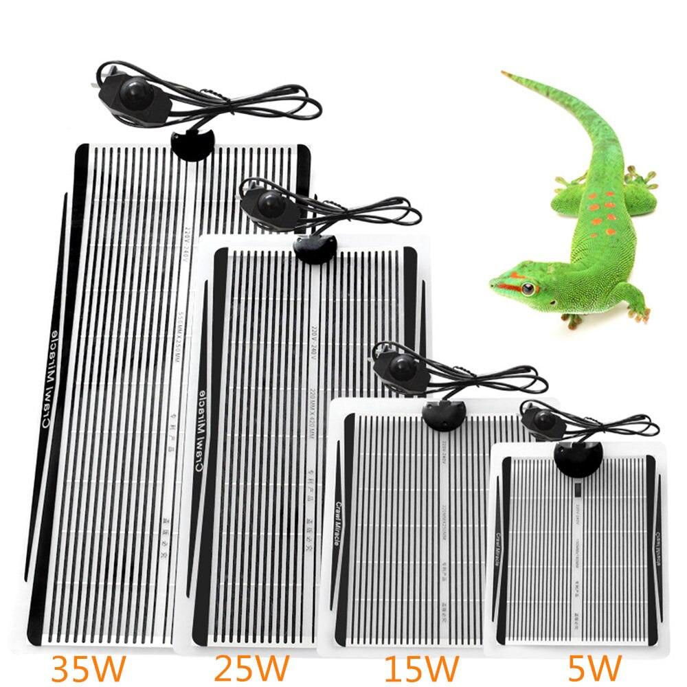 Popular Terrarium Reptiles 5-35W Heat Mat Climbing Pet Heating Warm Pads Adjustable Temperature Controller Mats Reptiles Supply