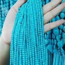 Круглые Бусины Из Натурального синего камня 4 10 мм полуготовые