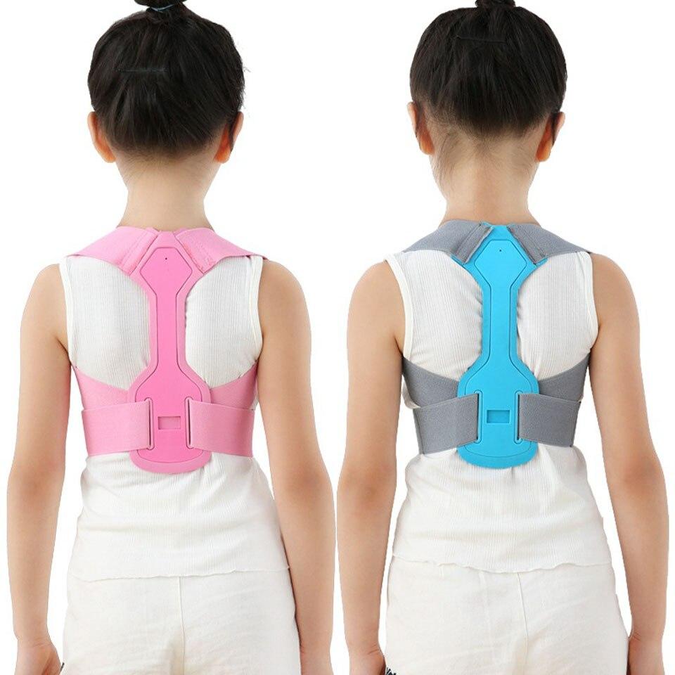 Children Kid Shoulder Back Brace Support Adjustable Magnetic Posture Corrector Spine Lumbar Support Brace Belt