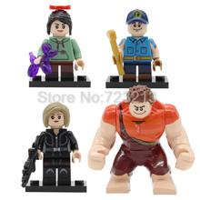 4 sztuk rozwal to ralph zestaw figurek film animowany Vanellope von Schweetz fix-it felix Tamora Jean klocki budowlane zabawki Legoing tanie tanio Feleph KF6061 KF641 KF642 KF643 KF644 Unisex 6 lat Compatible with Figure Z tworzywa sztucznego Samozamykajcy cegły