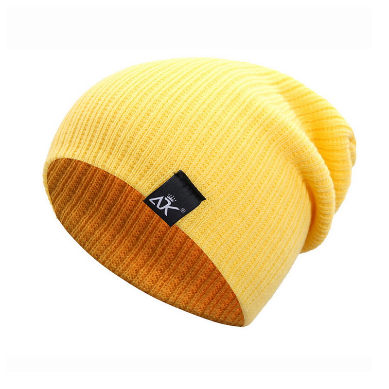 Knitted-Cap Wool-Cap Candy Autumn Outdoor Winter Fashion Hip-Hop Striped