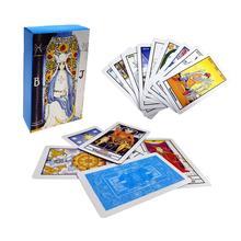 78 шт карт, полный русский наездник, карты Таро, Настольная Семейная Игра с красочной коробкой гадание, Карта Таро, игра гадание
