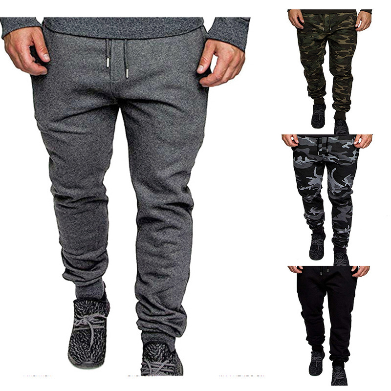 2019 Ouma Autumn And Winter New Style Fashion Camouflage Printed Casual With Drawstring MEN'S Sports Pants A24