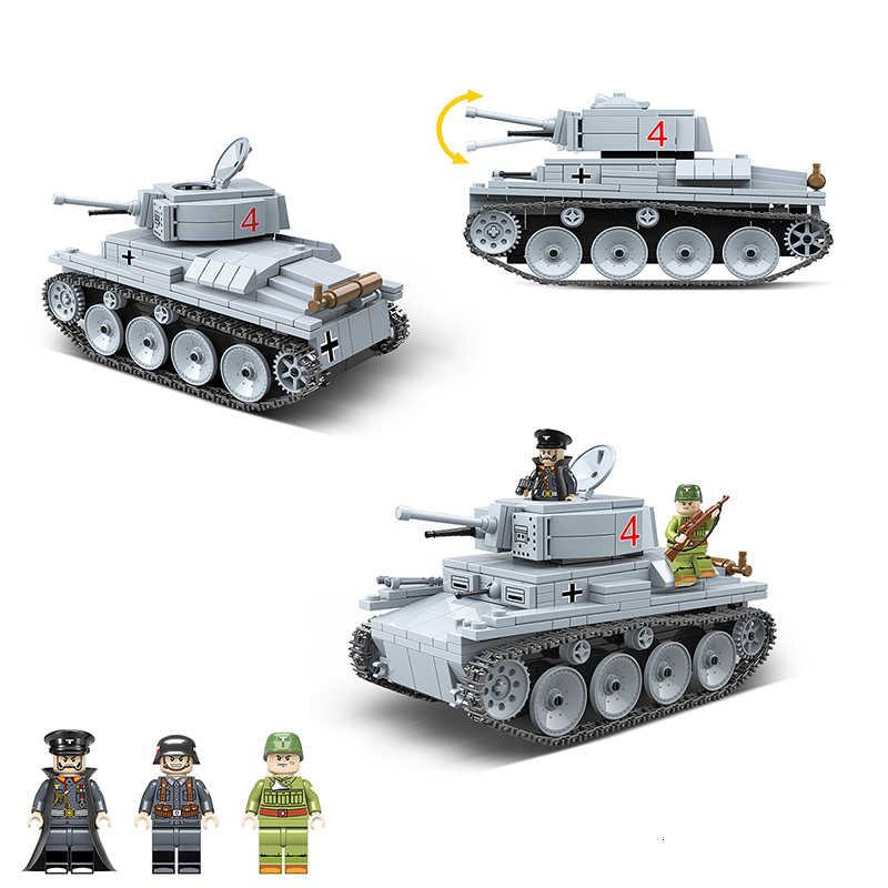 535 Miếng Quân Sự WW2 LT-38 Xe Tăng Hạng Nhẹ Khối Xây Dựng Mô Hình Tương Thích Legoingly Technic Thành Phố Quân Sự Người Lính Vũ Khí Đồ Chơi