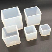6 шт./компл. Cube Силиконовые свечи формы мыло технологическая линия, глины, сделай сам, ювелирное изделие из эпоксидной смолы 72XF