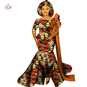 2020 African Clothing Best Quality Party Lady Plus Size Women Dress Print o-neck Collar Short Sleeve Ladies Long Dress WY7075