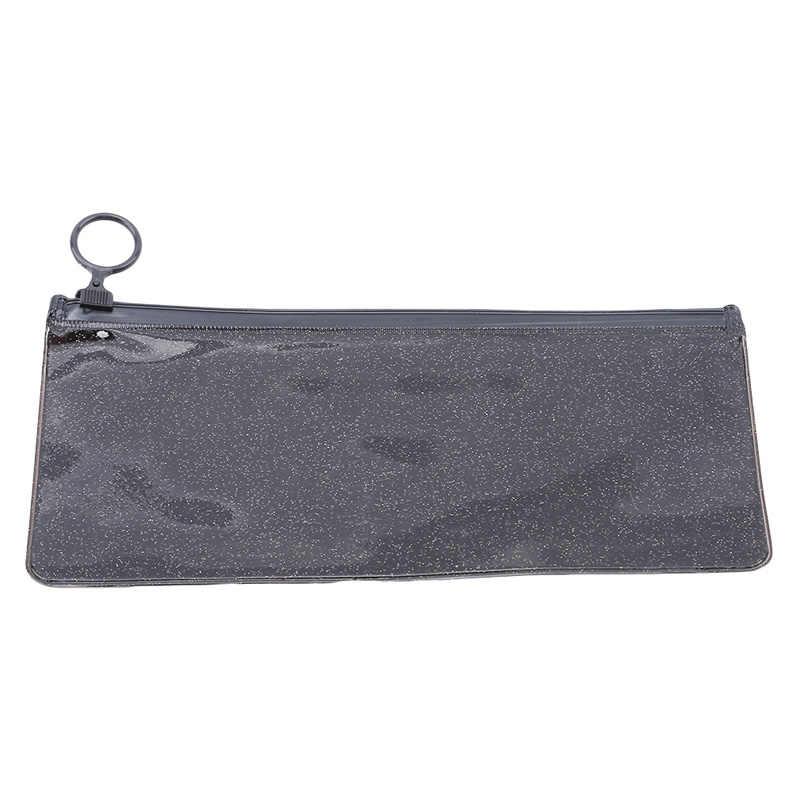 2019 1Pcs Transparent  PVC Cosmetic Bag Large Make Up Organizer Storage Pouch Travel Makeup Case Zipper Toiletry Wash Beauty Kit