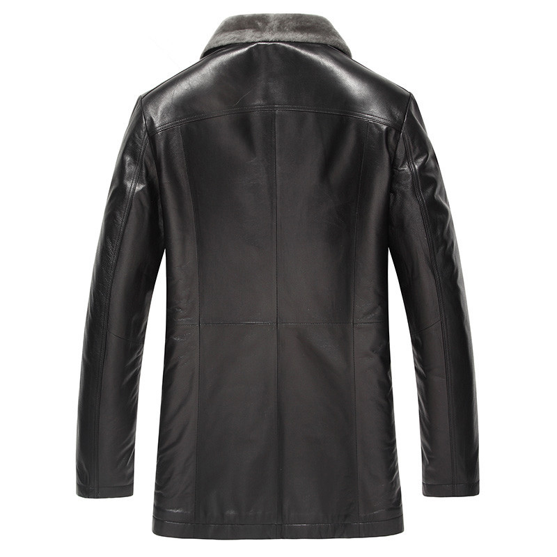 Winter Jacket Men Genuine Sheepskin Leather Jacket Plus Size Coat Men Real Wool Fur Coat Winterjas Heren 7009 MY788
