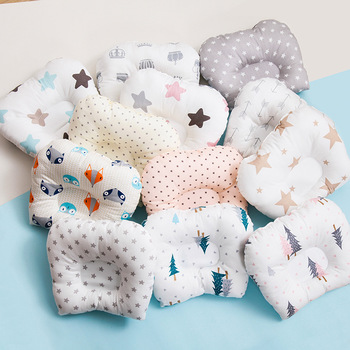 Pure Cotton Baby Pillow Breathable and Comfortable Anti-deviation Head Anti-deviation Head Be Washed Correct Partial Headrest energy deviation