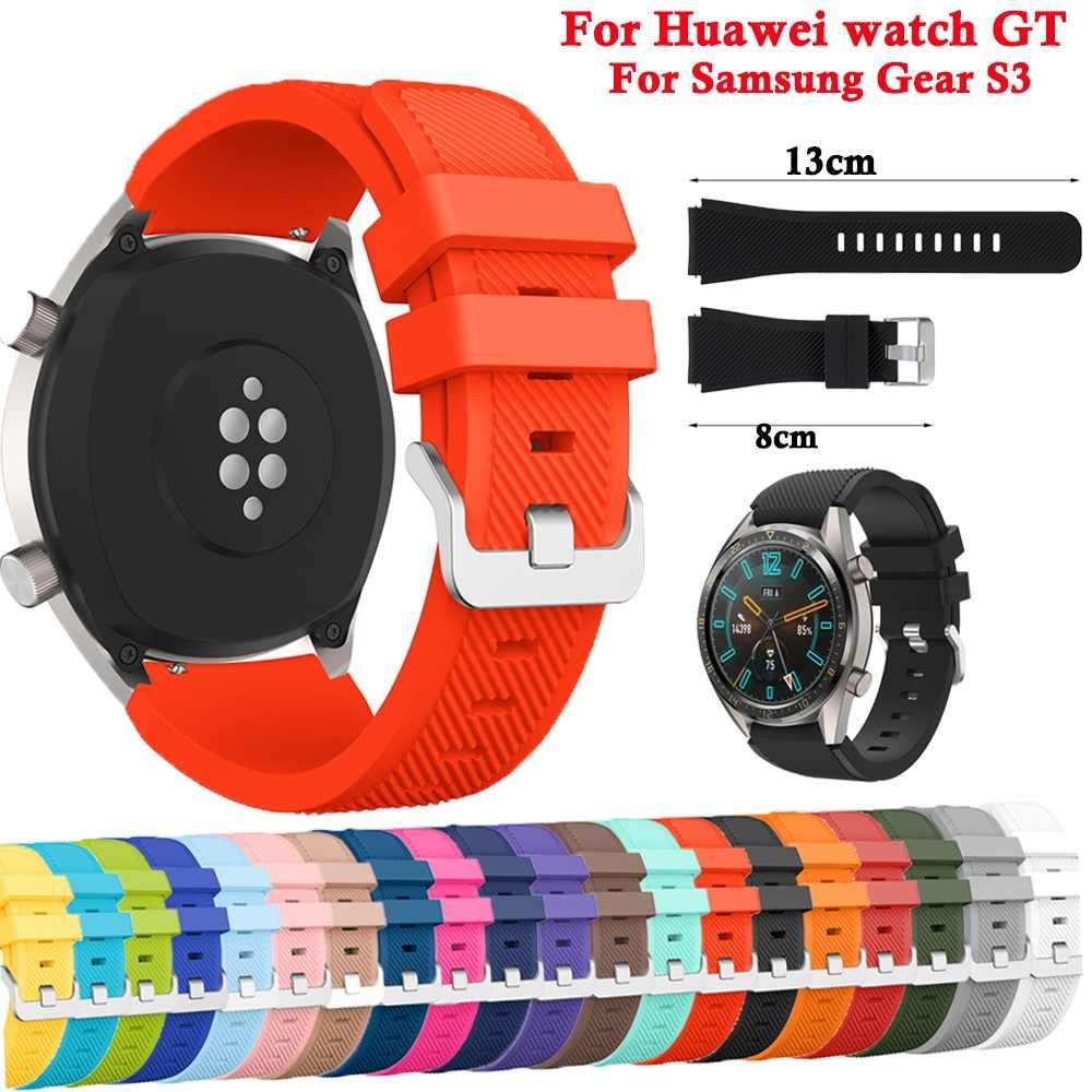 لينة سيليكون الرياضة مربط الساعة حزام ل سماعة هواوي GT حزام ساعة ذكية استبدال معصمه ل سماعة هواوي GT سوار 46 مللي متر