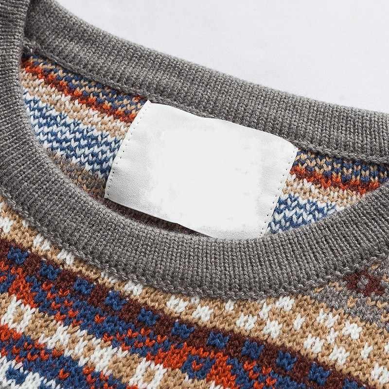 Lose Fit Folk Stil Herren Pullover Vintage Oansatz Pullover Tops Männlich Neue Herbst Winter Lange Hülse Strickte Pullover M-2XL