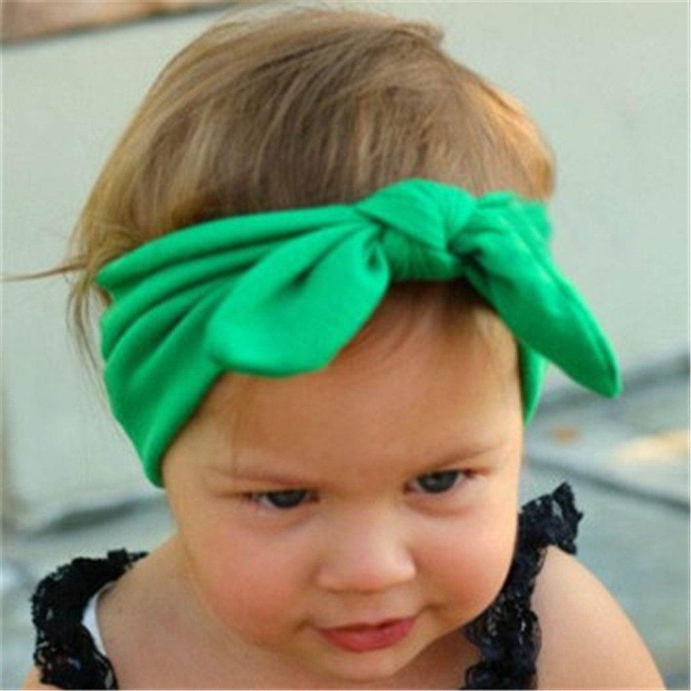 Women Girls Cute Bow Hairband Elastic Turban Knotted Rabbit Accessories Headband