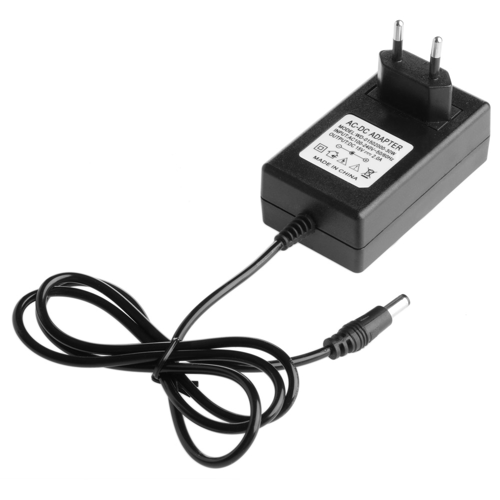 <font><b>15V</b></font> 2A Regulation Power <font><b>Adapter</b></font> US/EU Plug Supply Switching Power Monitoring Drop Ship Support image
