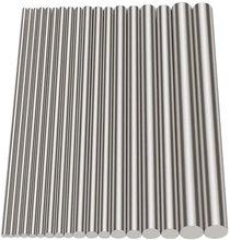 18pc 304 acier inoxydable solide tige ronde barre Stock axe sol assorti bricolage artisanat outil diamètre 2/2.5/3/4/5/6/8mm longueur 100mm