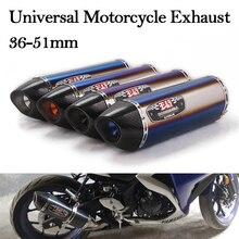 Slip On 36-51mm Universal Motorcycle Exhaust Modified Escape Muffler DB Killer For Honda CBR500X Ninja400 R1 R3 Z900 MT03 PCX150