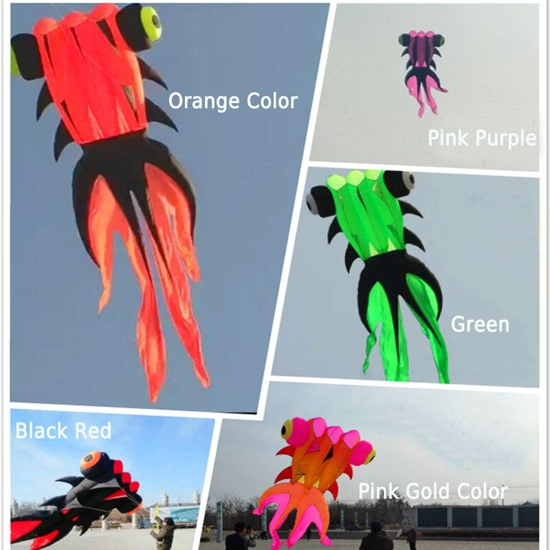 Livraison gratuite 37sqm poisson rouge doux cerf-volant nylon ripstop jouets de plein air mouche cerfs-volants pour adultes grand cerf-volant surf pieuvre méduse