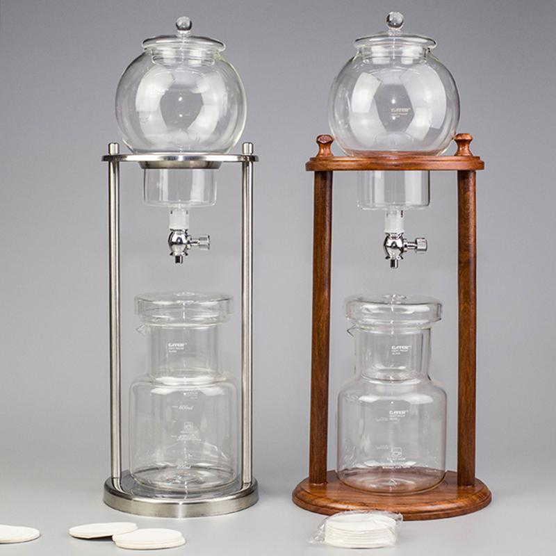 600ml 1000ml Cold Brew Drip Coffee Maker Reusable Glass Filter Tools Espresso Dripper Coffee Pot Ice Water Drip Coffee Machine
